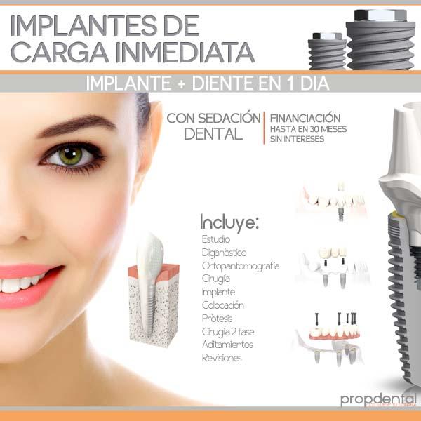implante y diente en un día