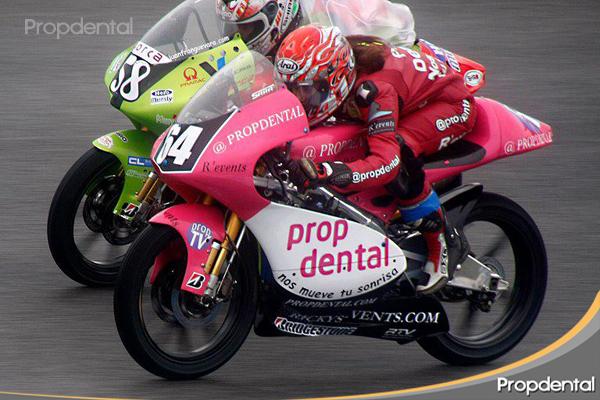 moto en carrera