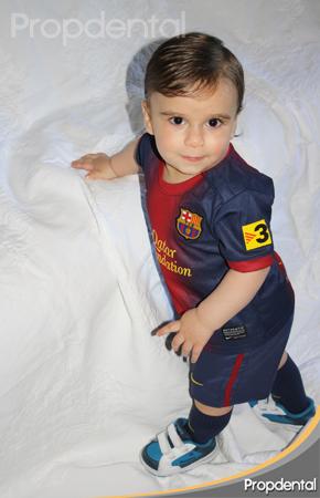cuidado de los dientes del bebé del FC Barcelona