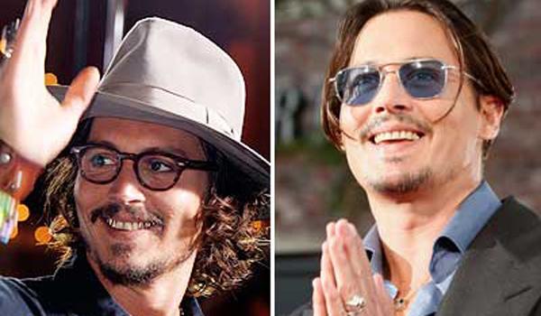 Jonny Depp carillas estéticas