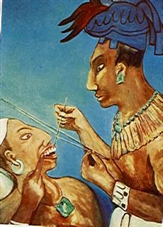 historia de la odontología maya