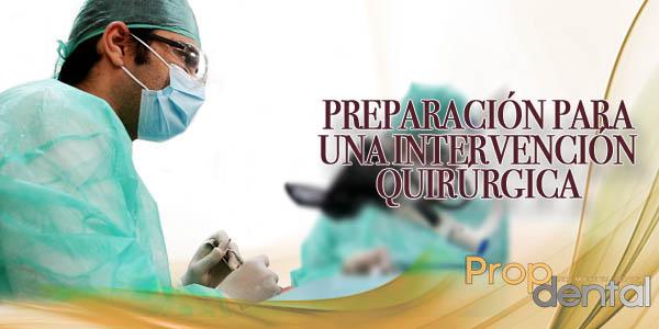 preparación para una intervención quirúrgica
