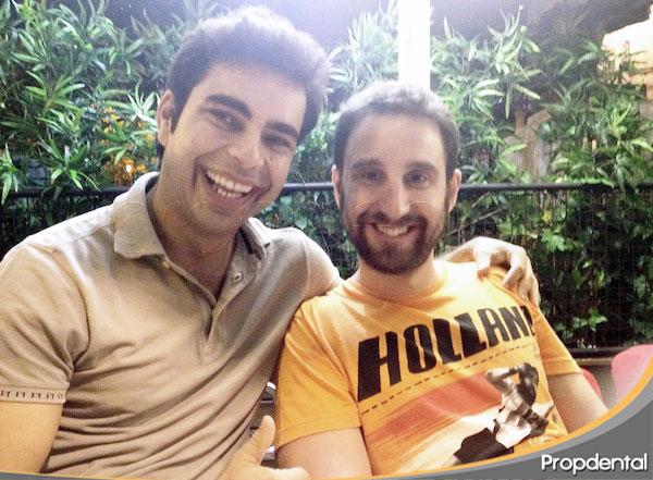 Dani Rovira con el dentista de famosos