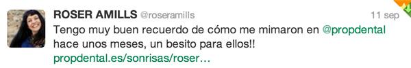 Roser Amills tweet