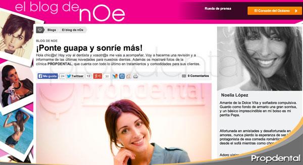 La sonrisa de Noelia Lopez en el Blog de noe