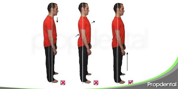 la posición corporal compromete la oclusión dental