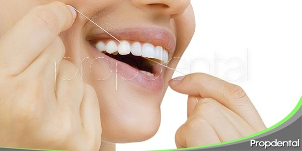 el momento del hilo dental