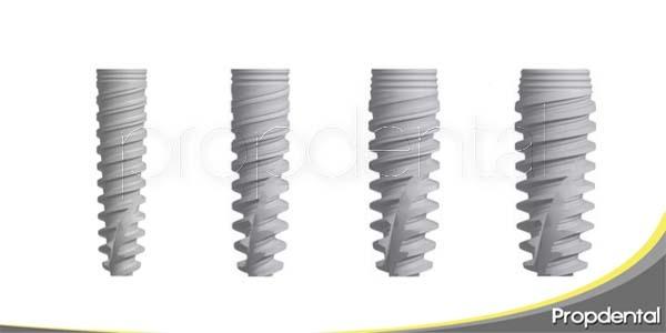tamaño de los implantes dentales