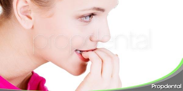 los malos hábitos orales