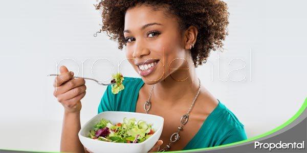 dieta equilibrada y salud oral