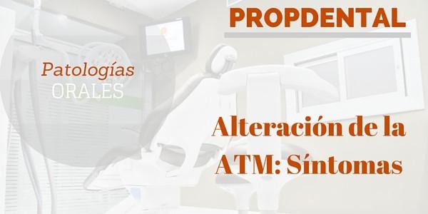 Alteracion de la ATM sintomas