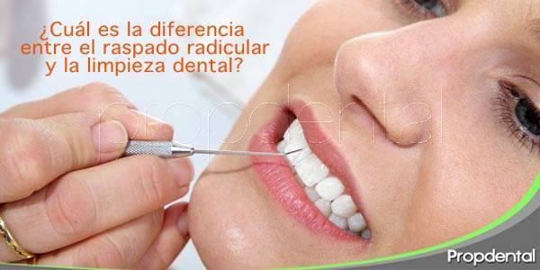 ¿Cuál es la diferencia entre el raspado radicular y la limpieza dental?