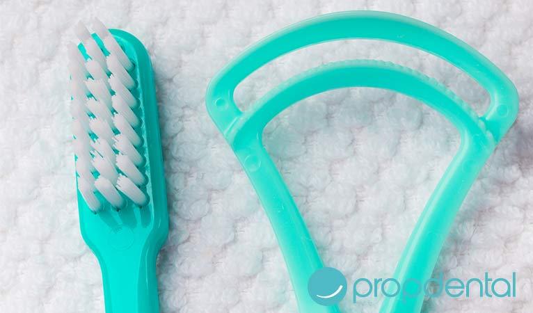 higiene oral el papel limpiador lingual