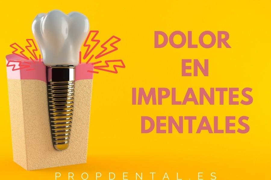Dolor en implantes dentales